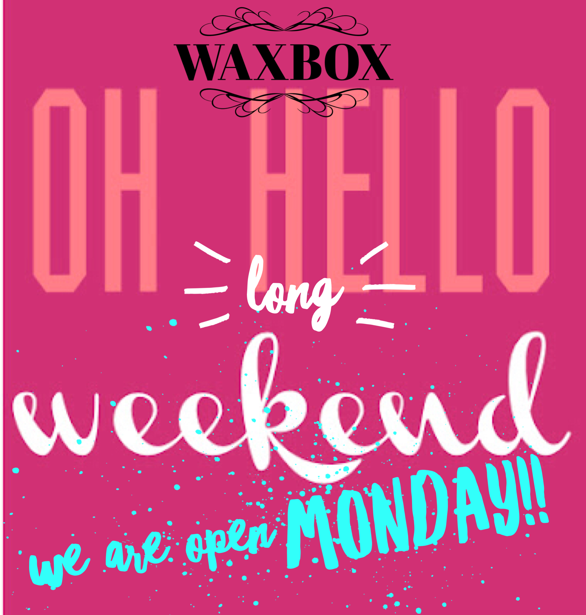 We are open Saturday & Monday this May long weekend!! Ring/text or book online!